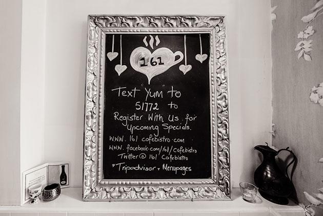 SMS Loyalty Club - MessageHero.com at 161 Cafe Bistro